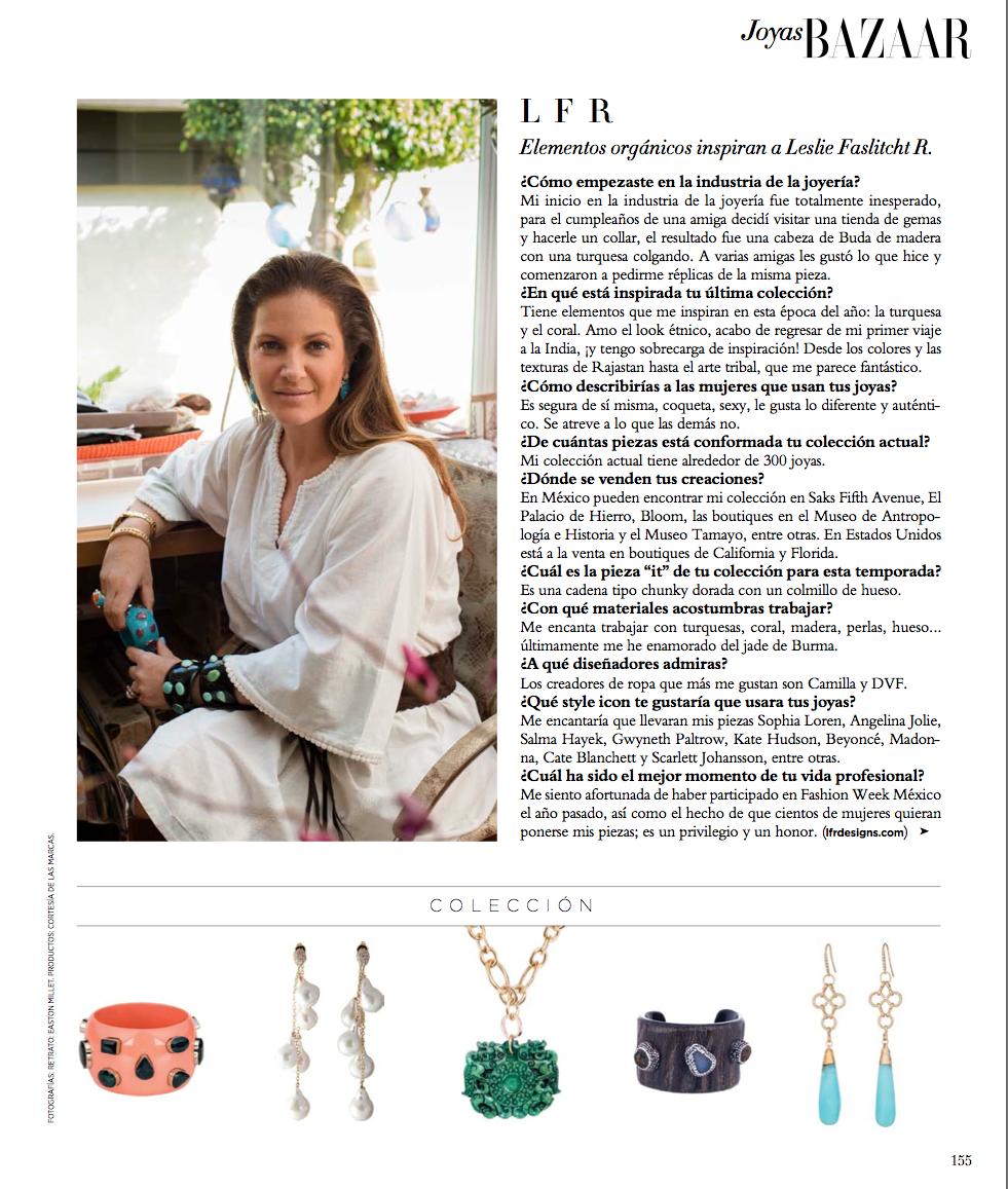 Harpers Bazaar Latin America Names Leslie Top Ten Jewelry Designer