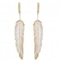 feather_gold_tone_drop_earrings