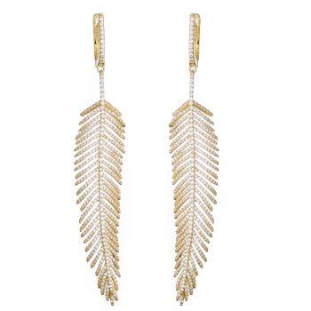 Shiva Feather Drop Earrings