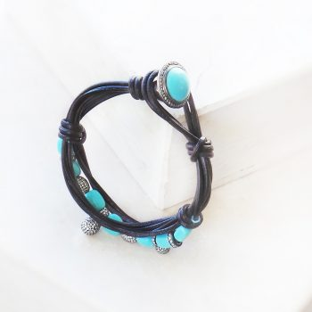 Naya Turquoise Leather Bracelet